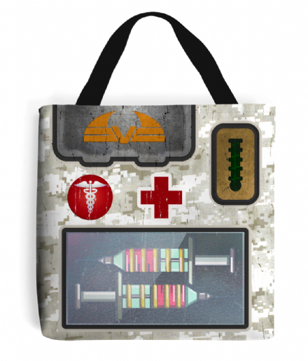 Medikit Tote Bag Quake 2 Power Up Inspired Gamers Shopping Bag